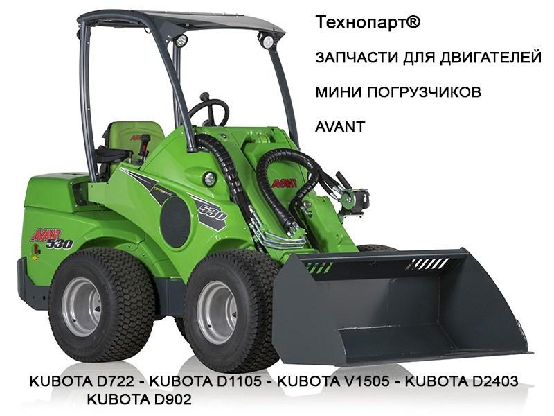 Запчасти для двигателя Kubota V1505 мини погрузчика Avant